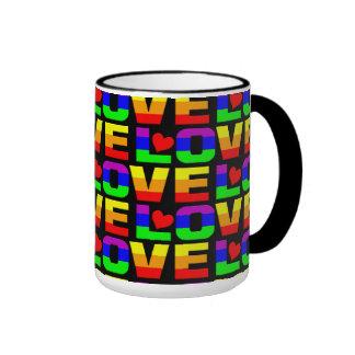 Taza del amor del arco iris - elija el estilo y el