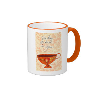 Taza del amor del café