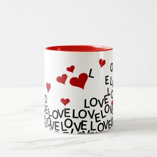 Taza del amor del el día de San Valentín