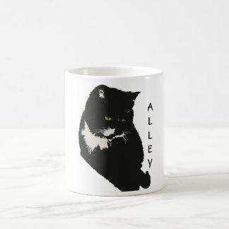 Taza del amor del gato callejero