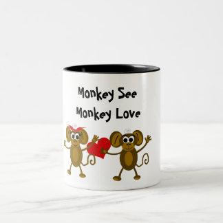 Taza del amor del mono