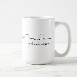 Taza del amor del paisaje urbano de Portland,