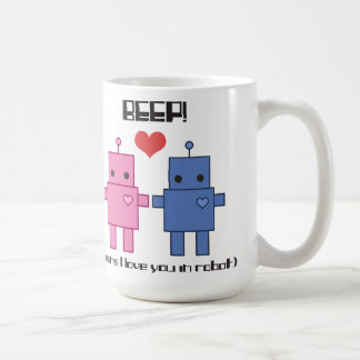 Taza del amor del robot