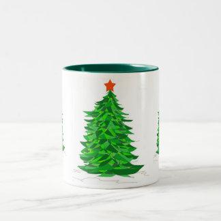 Taza del árbol de navidad del remiendo