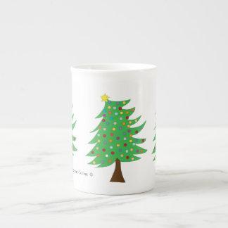 Taza del árbol de navidad taza de porcelana