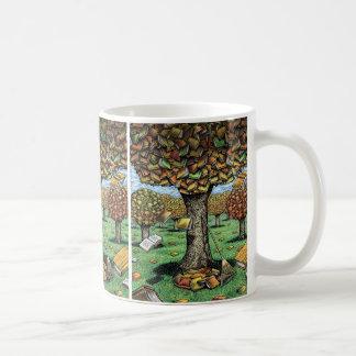 Taza del árbol del libro