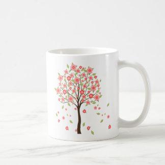 taza del árbol floreciente
