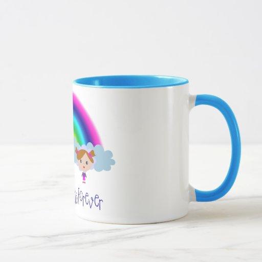 Taza del arco iris de BFF