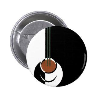 Taza del art déco del vintage de café con vapor chapa redonda 5 cm