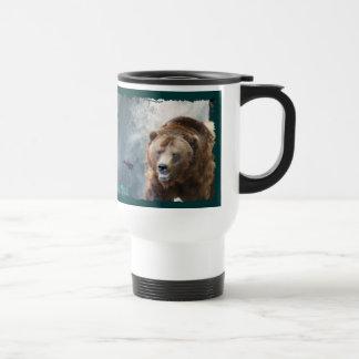 Taza del arte de la fauna del oso grizzly, de los