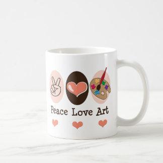 Taza del arte del amor de la paz