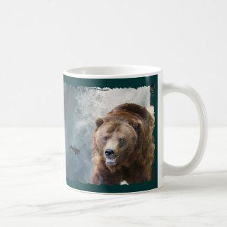 Taza del arte del Animal-amante del oso grizzly y