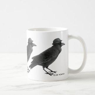 Taza del arte del cuervo