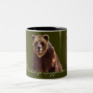 Taza del arte del Fauna-partidario del oso grizzly