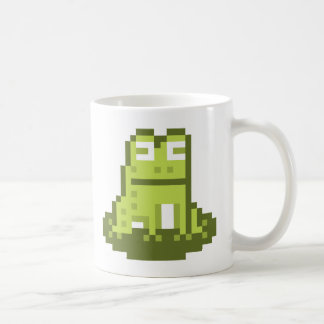 Taza del arte del pixel de la rana