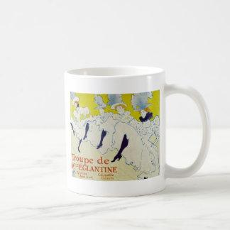 Taza del arte del vintage de Toulouse Lautrec