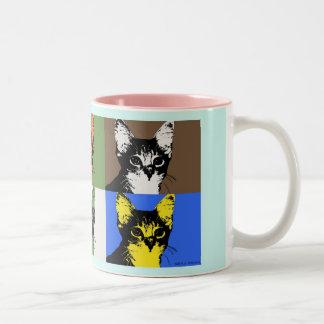 taza del arte pop del amante del gato