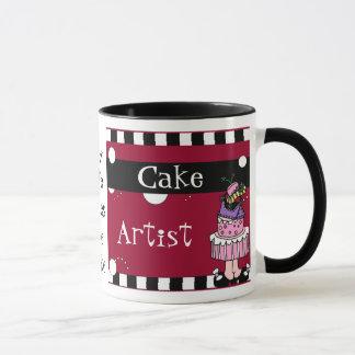 Taza del artista de la torta
