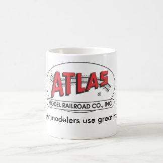 Taza del atlas - logotipo rojo