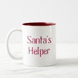Taza del ayudante de Santa - rojo