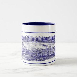 Taza del azul de Piamonte Maufacturing