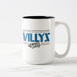 Taza del azul de Willys 4WD