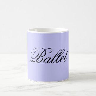 Taza del azul del ballet