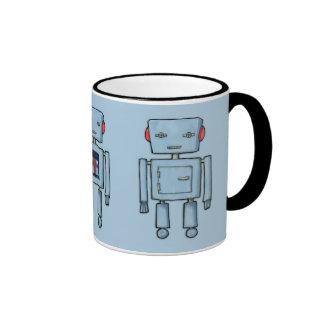Taza del azul del robot del juguete