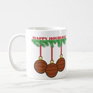 Taza del baloncesto del navidad