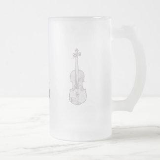 Taza del banjo del violín de la mandolina