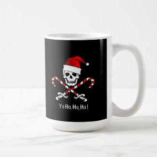 Taza del bastón de caramelo del navidad del pirata