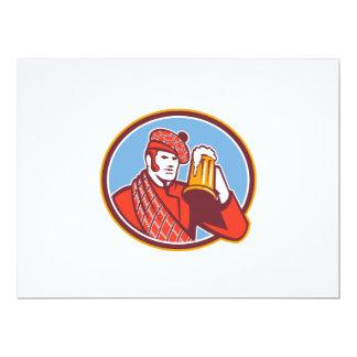 """Taza del bebedor de cerveza del Scotsman retra Invitación 6.5"""" X 8.75"""""""