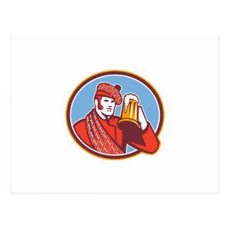 Taza del bebedor de cerveza del Scotsman retra Tarjeta Postal