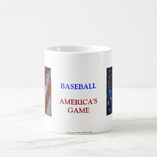 Taza del béisbol, del guante, del palo y de la