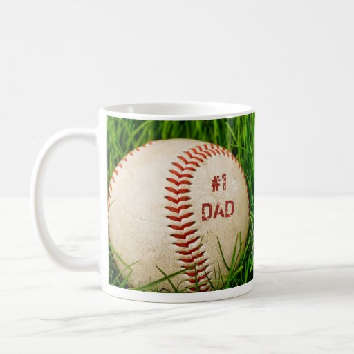 Taza del béisbol del papá #1