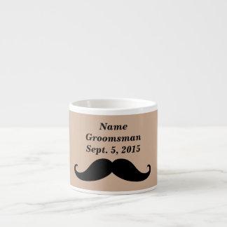 Taza del bigote, del sombrero de copa y del juego taza espresso