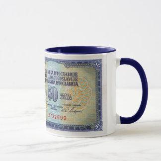 Taza del billete de banco