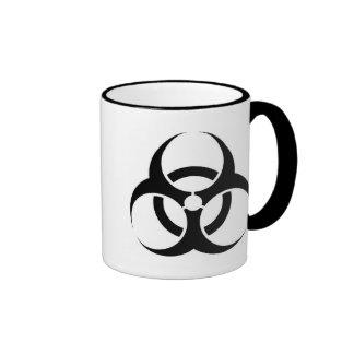 Taza del Biohazard con el texto