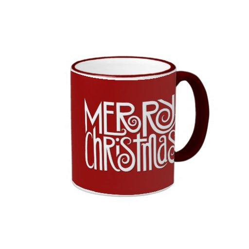 Taza del blanco de las Felices Navidad