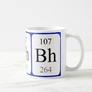 Taza del blanco del elemento 107 - Bohrium
