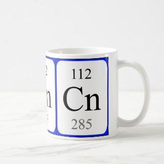 Taza del blanco del elemento 112 - Copernicium
