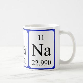 Taza del blanco del elemento 11 - sodio