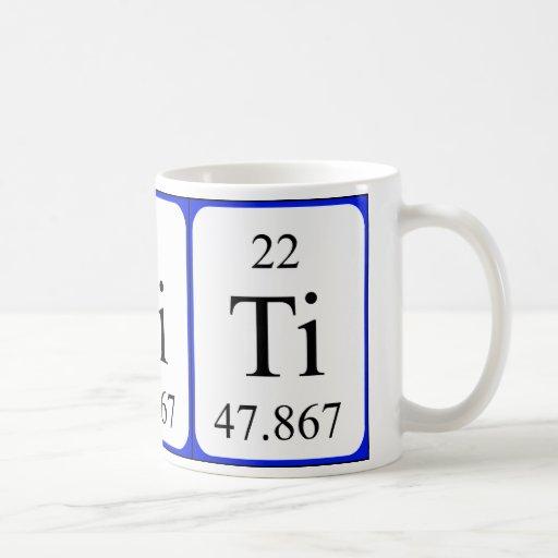 Taza del blanco del elemento 22 - titanio