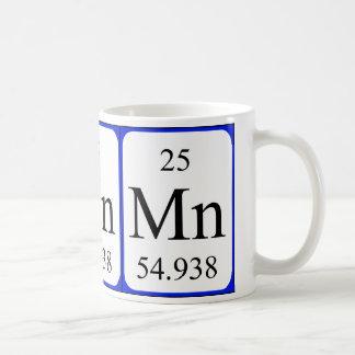 Taza del blanco del elemento 25 - manganeso