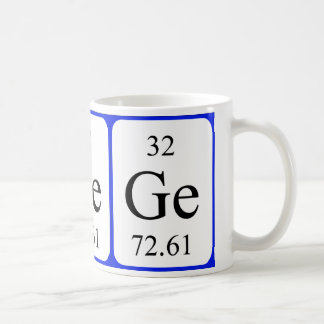Taza del blanco del elemento 32 - germanio