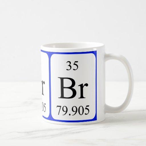Taza del blanco del elemento 35 - bromo
