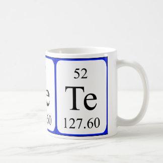 Taza del blanco del elemento 52 - telurio