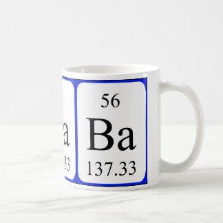 Taza del blanco del elemento 56 - bario