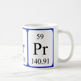 Taza del blanco del elemento 59 - praseodimio