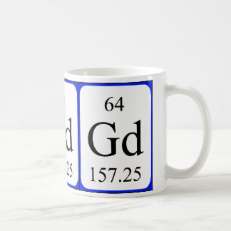 Taza del blanco del elemento 64 - gadolinio